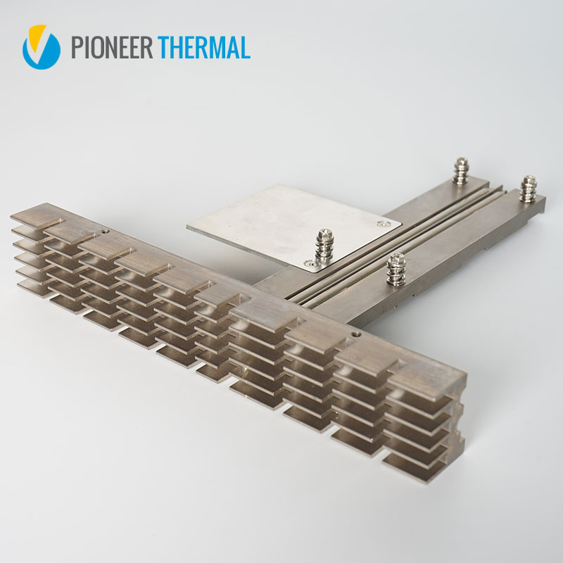 Custom Aluminum extrusion with heat pipes soldering heatinks